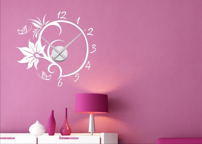 wandtattoo wandaufkleber uhr wanduhr inklusive uhrwerk mit zeigern neu wow ebay. Black Bedroom Furniture Sets. Home Design Ideas