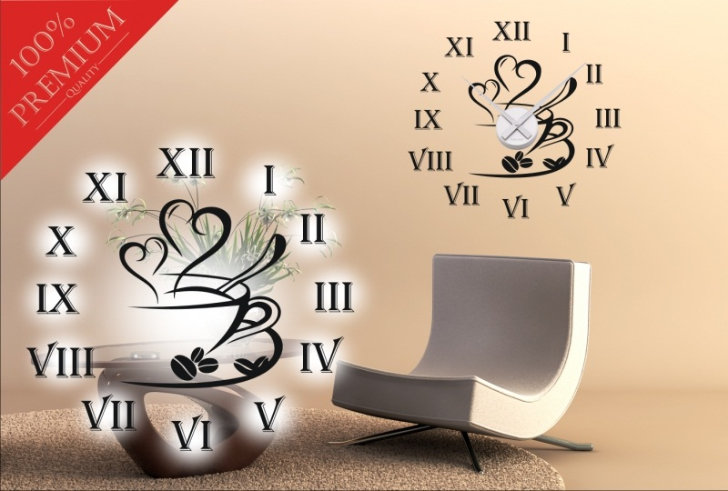 wandtattoo uhren wandaufkleber sticker uhr wanduhr ink uhrwerk dekoration clock ebay. Black Bedroom Furniture Sets. Home Design Ideas