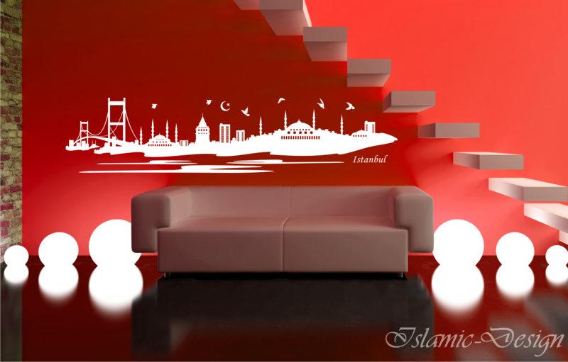 wandtattoo wandaufkleber istanbul skyline wandsticker. Black Bedroom Furniture Sets. Home Design Ideas